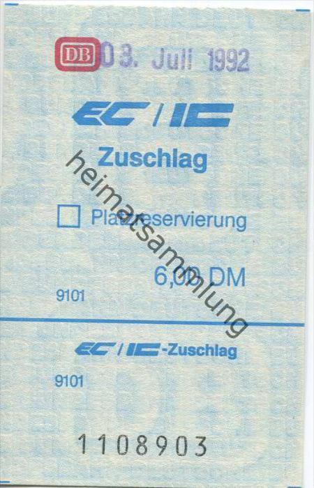 Deutschland - EC/IC Zuschlag