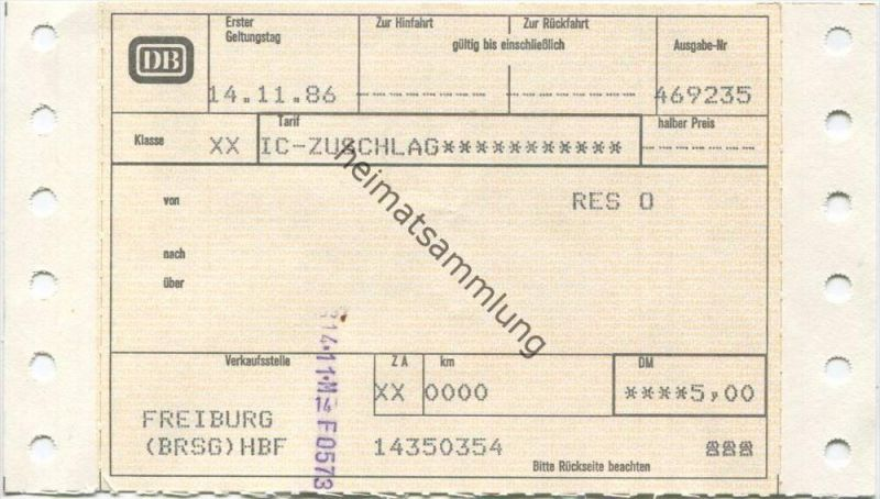 Deutschland - IC Zuschlag