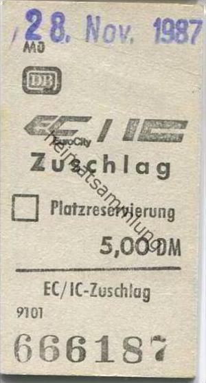 Deutschland - IC Zuschlag - 1987