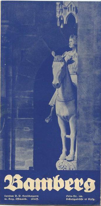 Bamberg 1936 - Faltblatt mit 8 Abbildungen - beiliegend Verzeichnis der Hotels und Gasthöfe