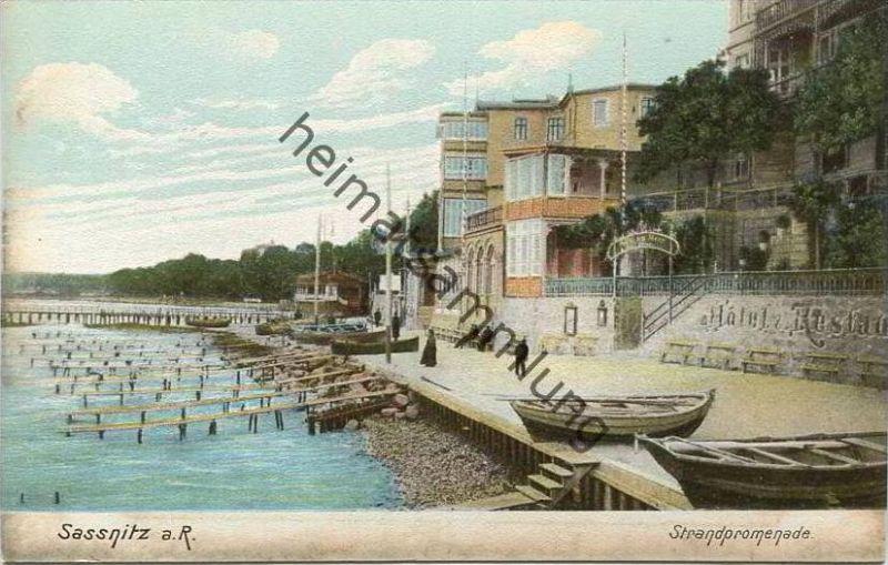 Sassnitz auf Rügen - Strandpromenade - Heliocolorkarte - Verlag Ottmar Zieher München