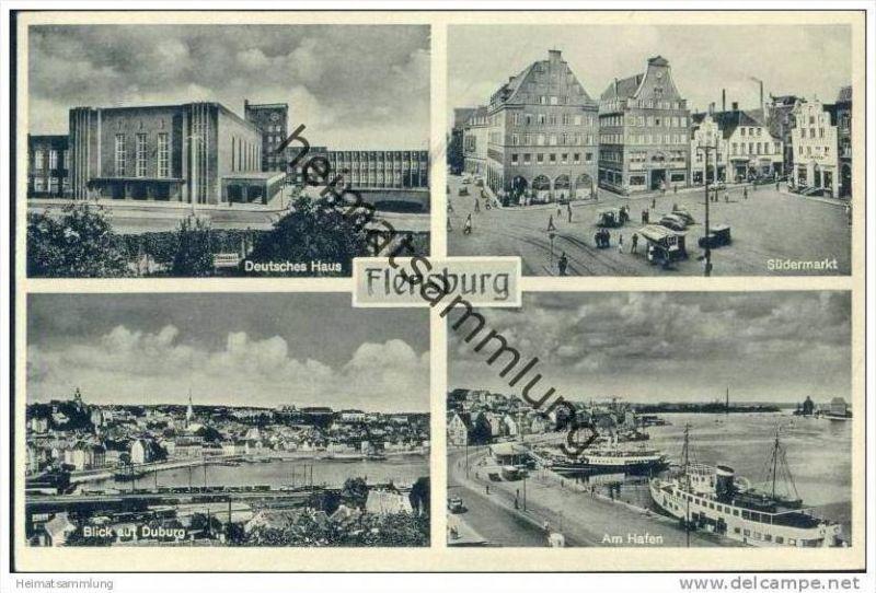Flensburg Deutsches Haus - Hafen - Südermarkt