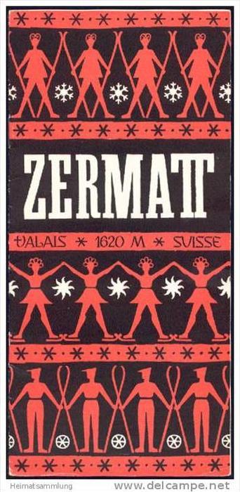 Zermatt 1948 - 10 Seiten mit 13 Abbildungen - in französischer Sprache