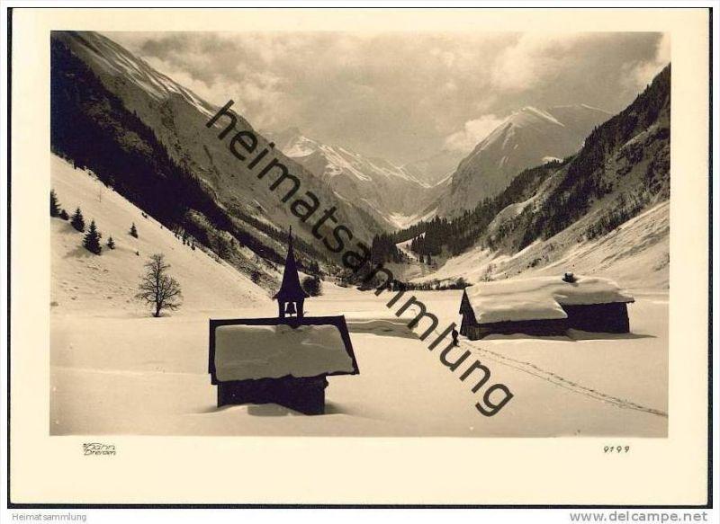 Berglandschaft - Foto-AK Handabzug