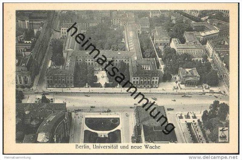 Berlin-Mitte - Universität und Neue Wache - Fliegeraufnahme 30er Jahre