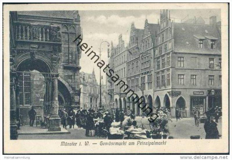 Münster - Gemüsemarkt am Prinzipalmarkt