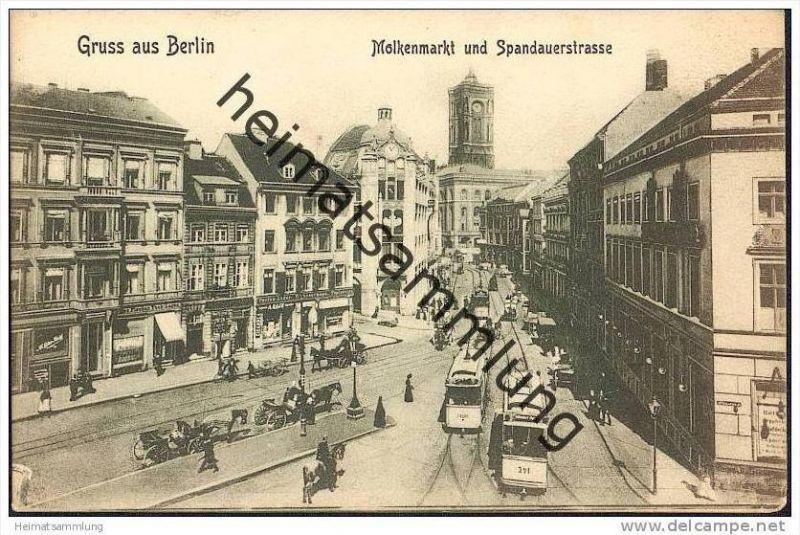 Berlin - Molkenmarkt - Spandauerstrasse - Strassenbahn
