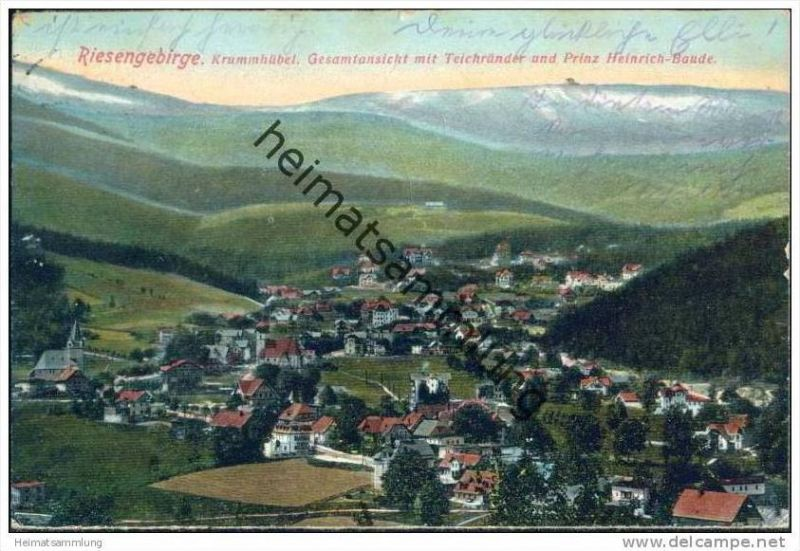 Krummhübel - Gesamtansicht mit Teichränder und Prinz-Heinrich-Baude