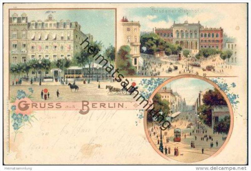 Berlin mitte potsdamer bahnhof pferdekutschen nr for Stempel berlin mitte