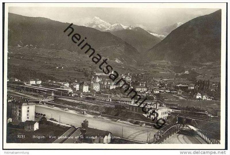 Brig - Brigue - Gesamtansicht - Bahnanlagen - Foto-AK 20er Jahre
