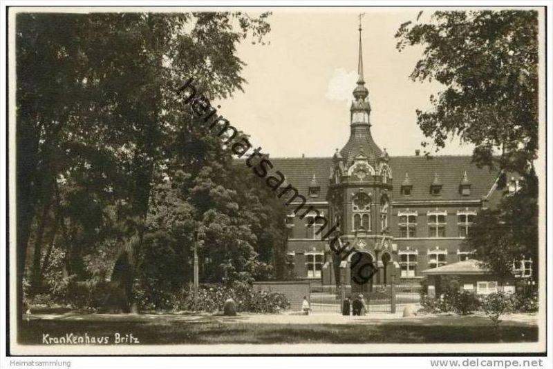 Berlin-Britz - Krankenhaus Britz - Foto-AK 30er Jahre