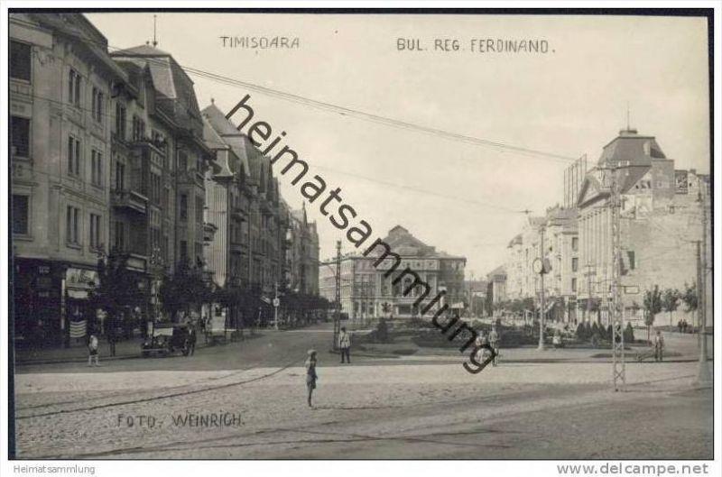 Timisoara - Temeswar - Bulevardul Regele Ferdinand - Foto-AK