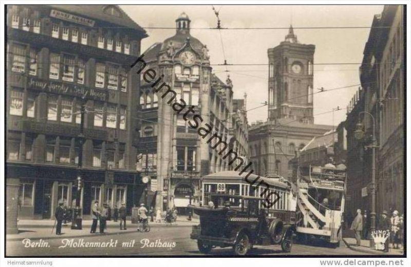 Berlin-Mitte - Molkenmarkt mit Rathaus - Foto-AK 20er Jahre