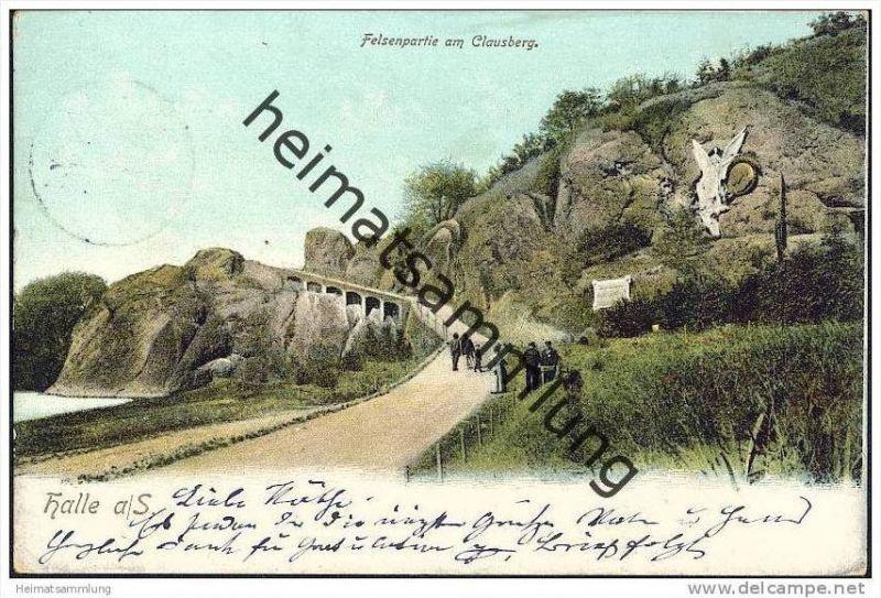 Halle - Felsenpartie am Clausberg