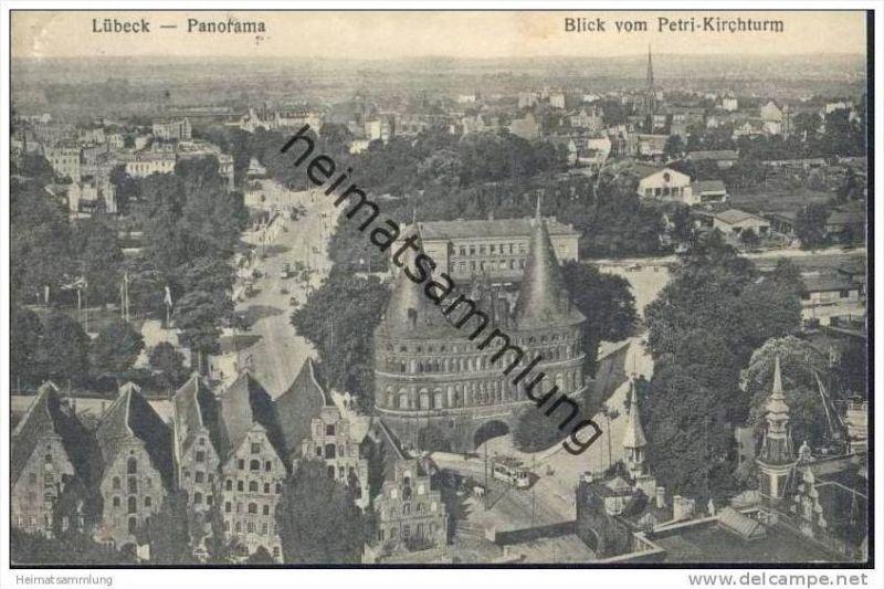 Lübeck - Panorama - Blick vom Petri-Kirchturm