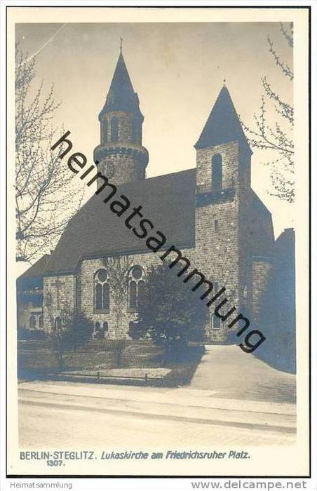 berlin steglitz lukaskirche am friedrichsruher platz nr 319464094 oldthing ansichtskarten. Black Bedroom Furniture Sets. Home Design Ideas