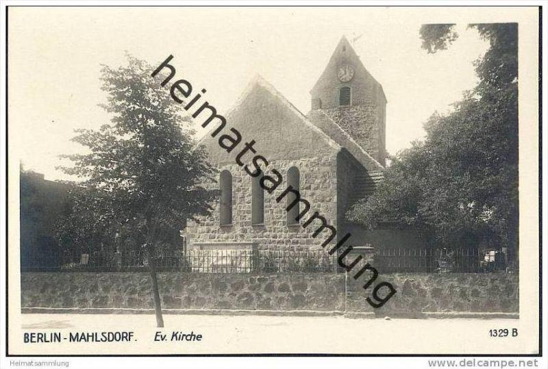 Berlin-Mahlsdorf - Evangelische Kirche - Foto-AK
