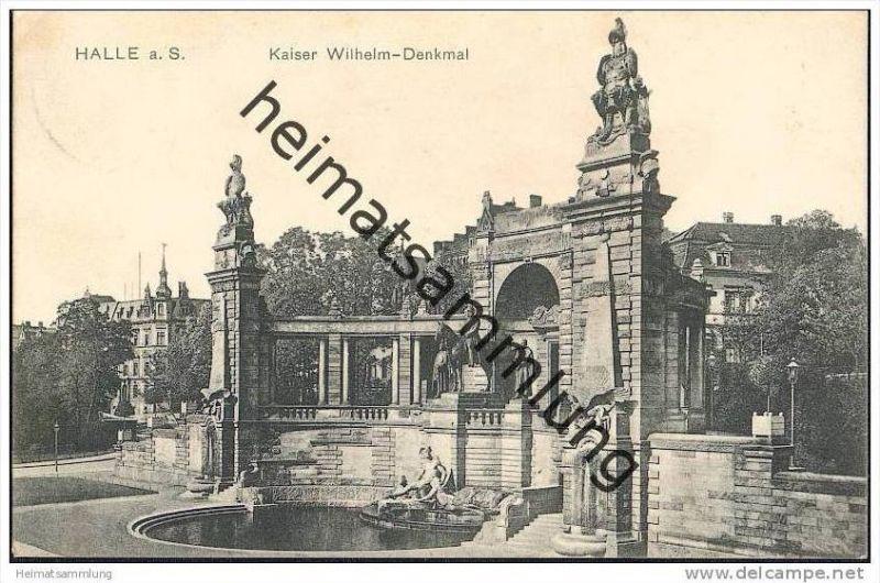 Halle - Kaiser-Wilhelm-Denkmal