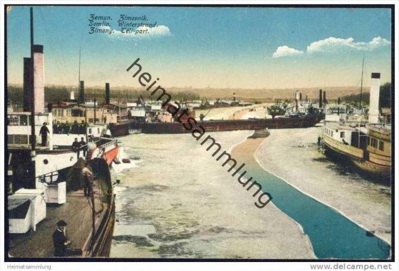 Zemun - Zimovnik ca. 1910 - Semlin - Winterstrand