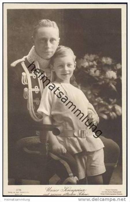 Wilhelm von Preussen - Unser Kronprinz mit seinem ältesten Sohn