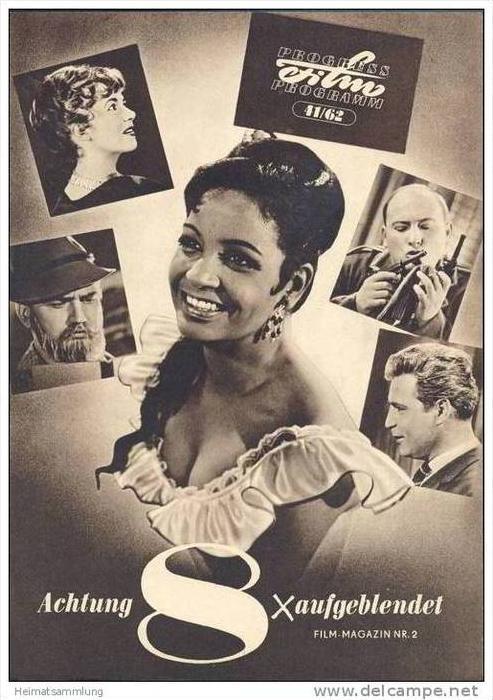 Progress-Filmprogramm 41/62 - Achtung aufgeblendet Film-Magazin Nr.2  DEFA Kurzfilmrevue