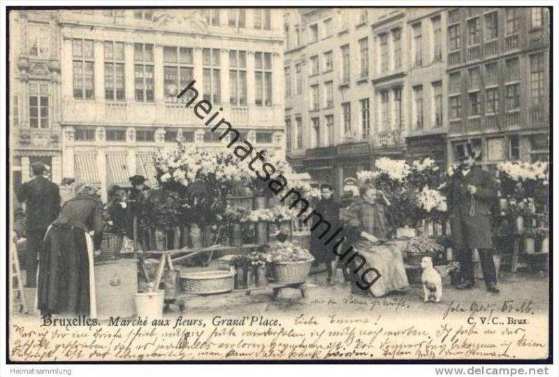 Bruxelles - Marché aux fleurs - Grand' Place
