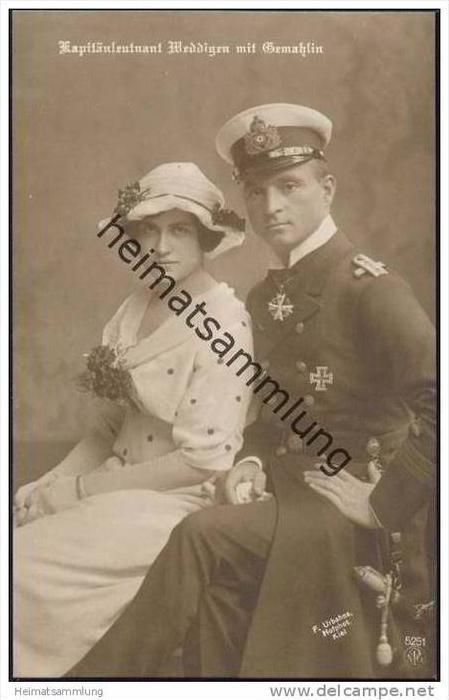 Kapitänleutnant Weddigen mit Gemahlin