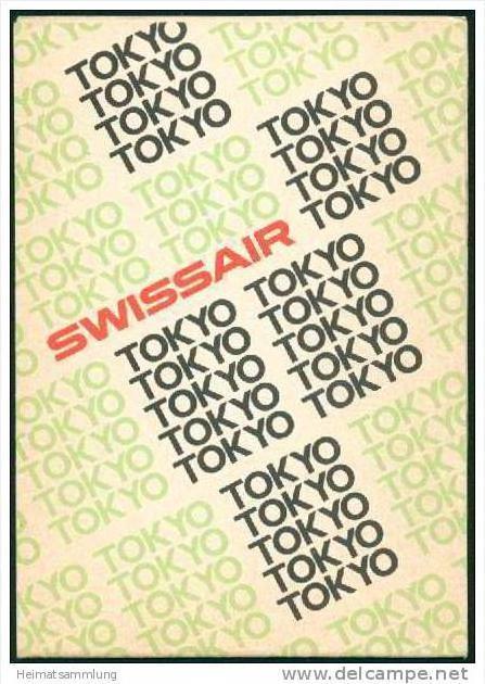 Tokyo 1971 - Faltblatt überreicht von der Swissair