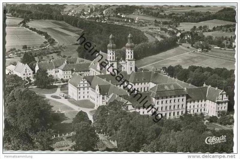 Obermarchtal - Kloster - Rechtenstein - Luftbild - Foto-AK