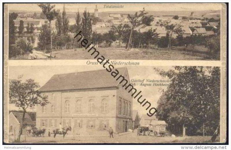 Gruss aus Niederschmon - Totalansicht - Gasthof Niederschmon Inh. August Hochheim - Bierwagen
