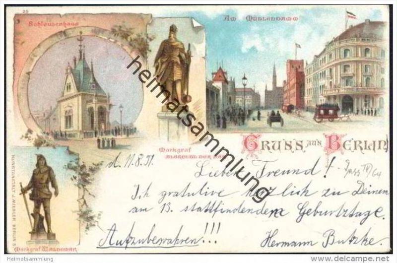 Gruss aus berlin mitte am m hlendamm schleusenhaus - Stempel berlin mitte ...