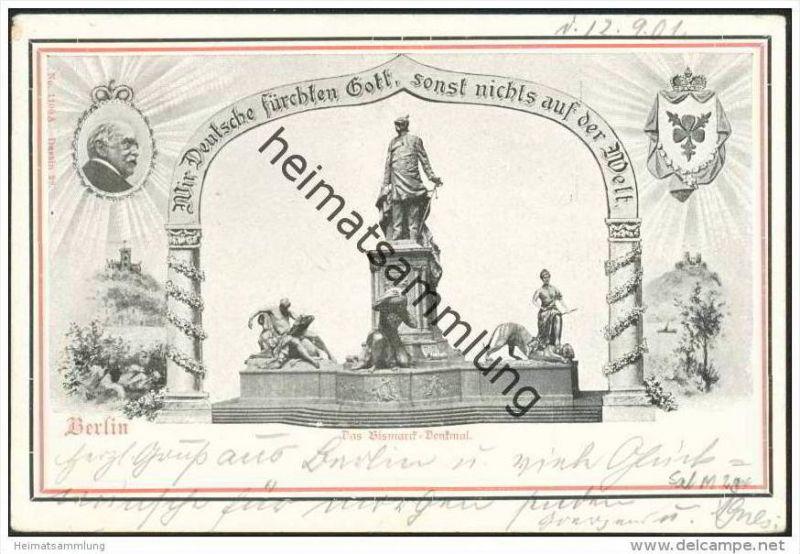 Berlin - Bismarck-Denkmal - Propaganda - Stempel Gross-Lichterfelde (Potsdamer Bahn)