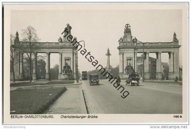 Berlin-Charlottenburg - Charlottenburger Brücke - Foto-AK