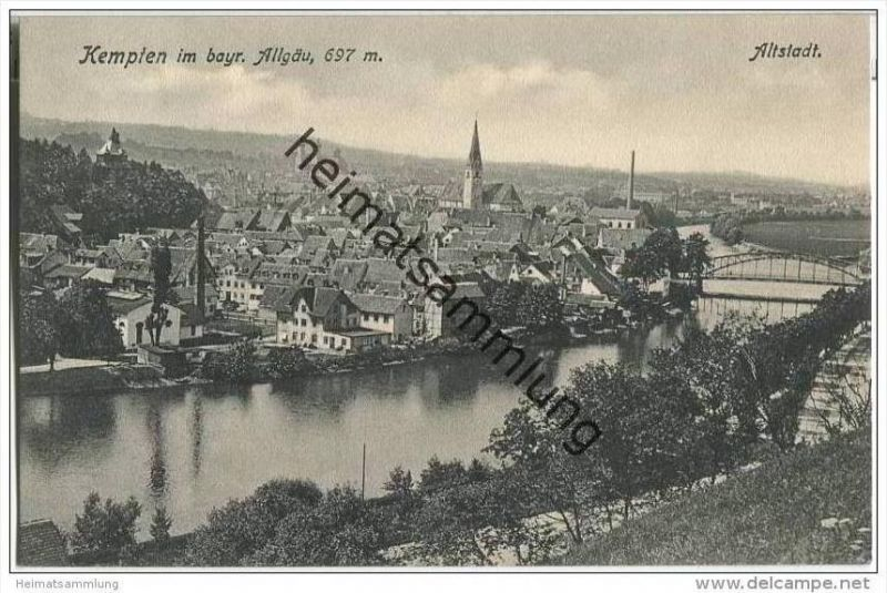 Kempten im Allgäu - Gesamtansicht - Altstadt