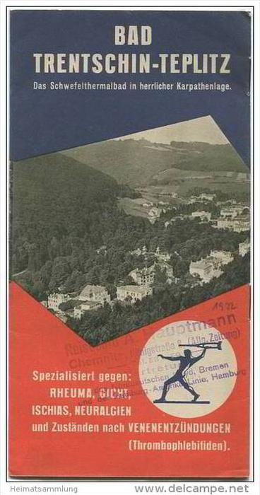 Slowakei - Bad Trentschin-Teplitz 30er Jahre - 8 Seiten mit 38 Abbildungen