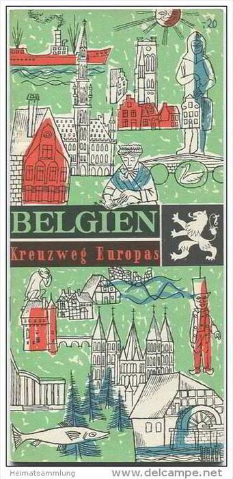 Belgien - Kreuzweg Europas - 36 Seiten Wissenswertes über Belgien 60er Jahre