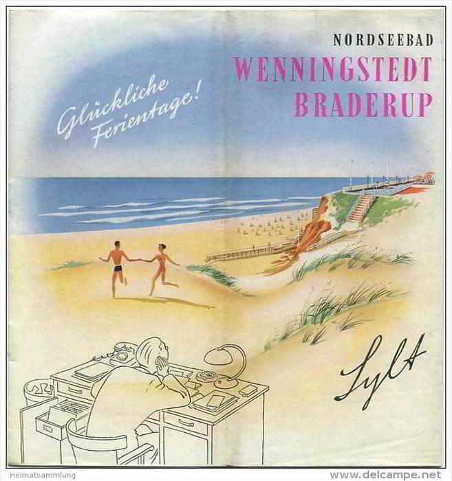 Wenningstedt Braderup 1956 - 12 Seiten mit 20 Abbildungen - beiliegend Wohnungsanzeiger 20 Seiten mit vielen Abbildungen