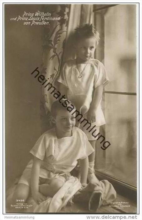 Deutsches Reich - Prinz Wilhelm und Prinz Louis Ferdinand von Preussen