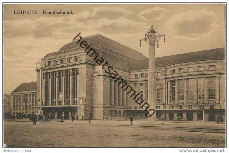 Leipzig - Hauptbahnhof 20er Jahre