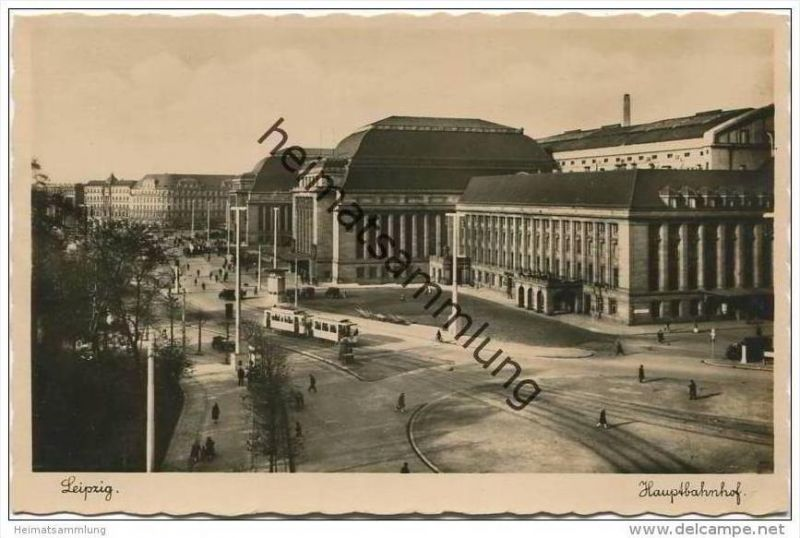 Leipzig - Hauptbahnhof - Foto-AK 30er Jahre