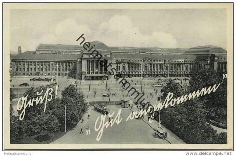 Leipzig - Hauptbahnhof 30er Jahre