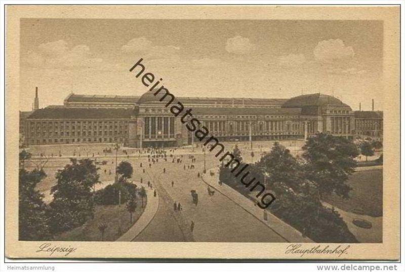 Leipzig - Hauptbahnhof - Wohlfahrtskarte der Deutschen Bahnhofsmission 20er Jahre