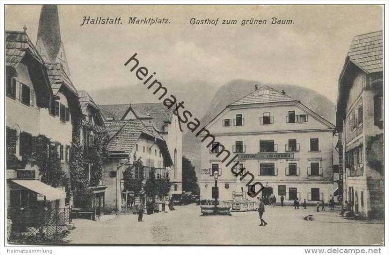 Hallstatt - Marktplatz - Gasthaus zum grünen Baum