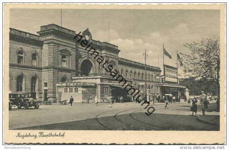 Magdeburg - Hauptbahnhof 30er Jahre