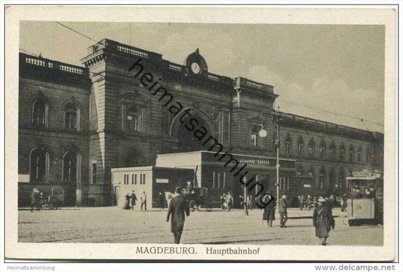 Magdeburg - Hauptbahnhof 20er Jahre