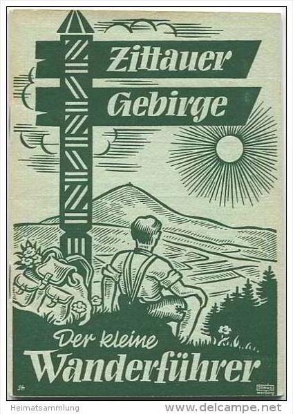 Zittauer Gebirge - Der kleine Wanderführer 50er Jahre - 50 Seiten mit 40 Abbildungen