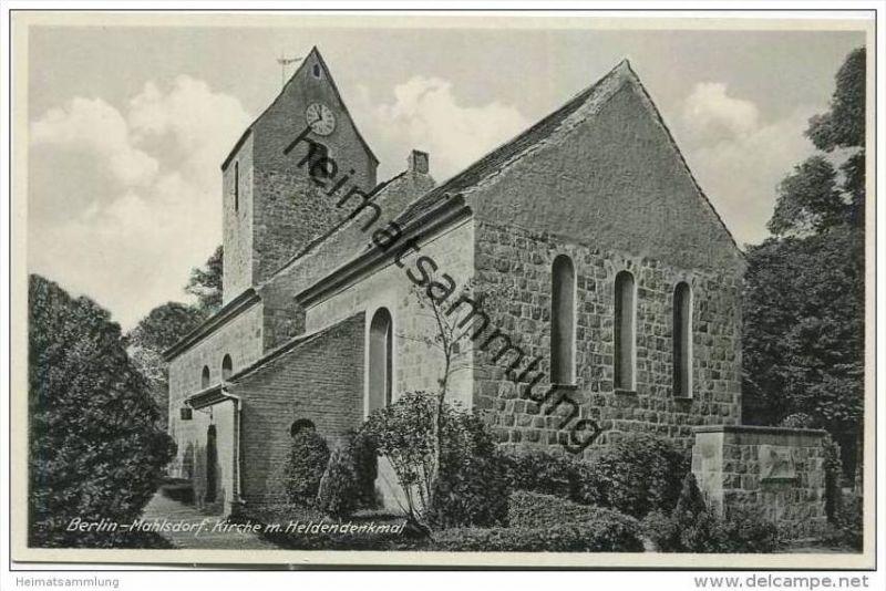 Berlin-Mahlsdorf - Kirche - Heldendenkmal ca. 1930
