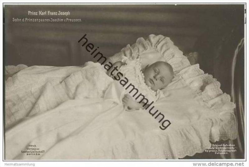 Prinz Karl Franz Joseph - Sohn des Prinzenpaares Joachim von Preussen - Phot. Niederastroth