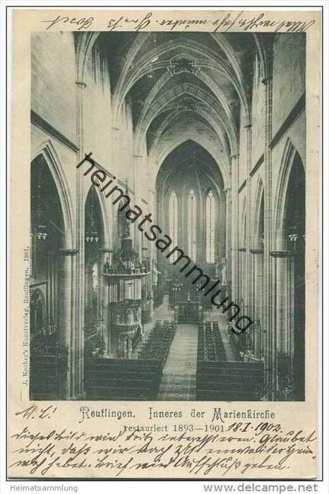 Reutlingen - Inneres der Marienkirche