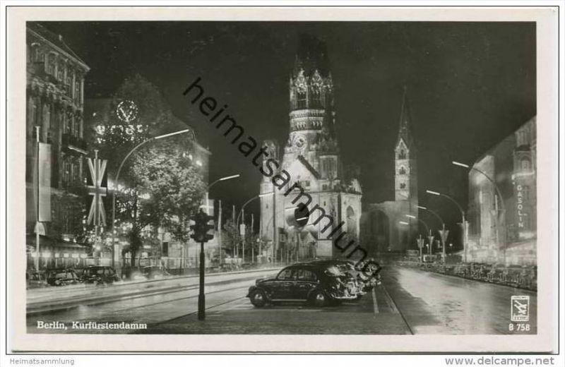 Berlin-Charlottenburg - Kurfürstendamm - Foto-AK 50er Jahre